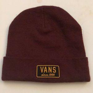 Brand new VANS Maroon Beanie